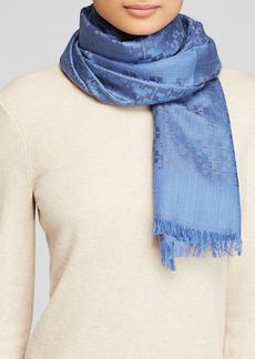 Tory Burch All-Over T Logo Jacquard Scarf
