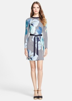 Tory Burch 'Annette' Print Belted Silk Sheath Dress