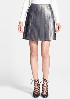 Tory Burch 'Audra' Metallic Pleated Skirt