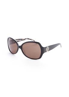 Tory Burch black acrylic oversized round 58mm sunglasses