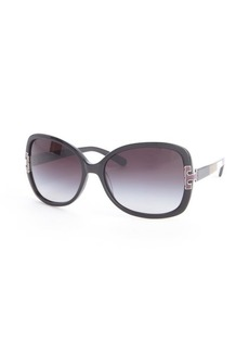 Tory Burch black and maroon and tan colorblock oversized 59mm round sunglasses