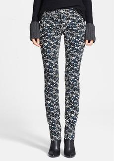 Tory Burch 'Blaire' Floral Print Super Skinny Jeans (Sandshell Nouveau)