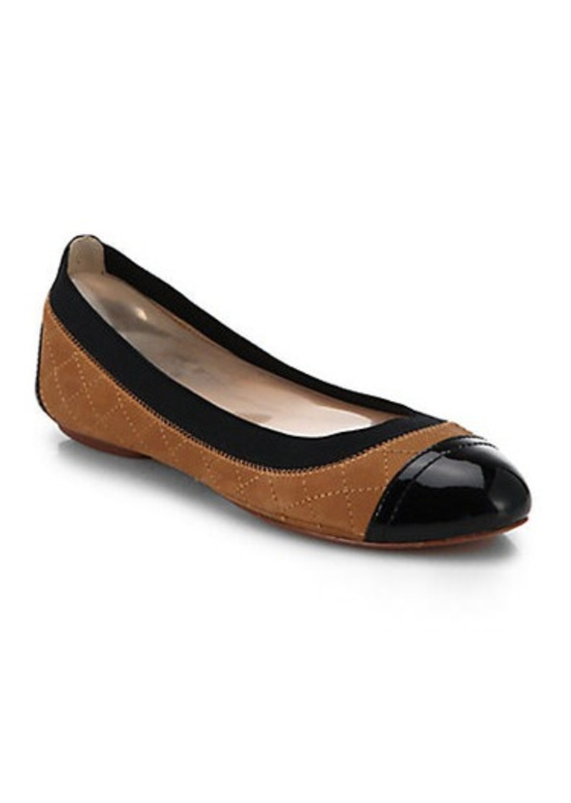 tory burch tory burch bridgette quilted leather ballet flats shoes shop it to me. Black Bedroom Furniture Sets. Home Design Ideas