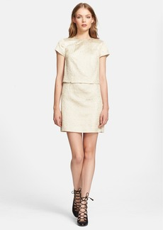 Tory Burch 'Brielle' Metallic Brocade Mock Two Piece Dress