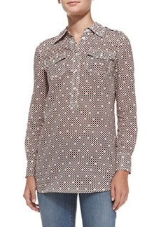Tory Burch Brigitte Cotton Short-Sleeve Tunic