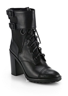 Tory Burch Broome Leather Mid-Calf Boots