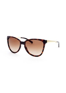 Tory Burch brown and gold metal arm 58mm foldable sunglasses