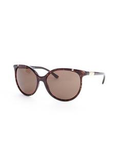 Tory Burch brown havana 59mm cat eye sunglasses