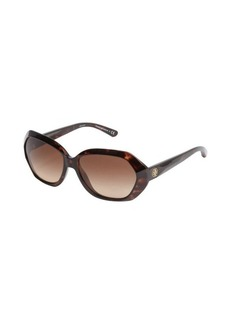Tory Burch brown tortoise print rectangle sunglasses