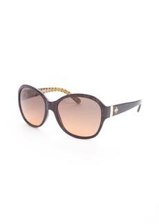 Tory Burch brown tortoise print round 57mm sunglasses
