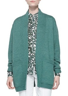 Tory Burch Bruna Wool Open Cardigan