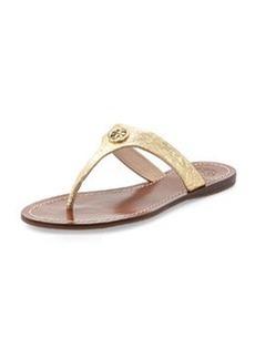 Tory Burch Cameron Metallic Thong Sandal, Saharian Gold