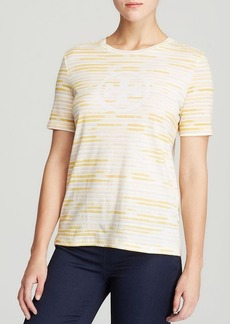 Tory Burch Cathy Logo Stripe Tee