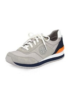 Tory Burch Colorblock Suede Trainer, Gray