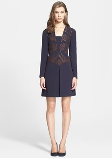 Tory Burch 'Connie' Embellished Crepe A-Line Dress (Nordstrom Exclusive)