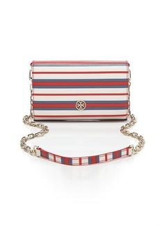 Tory Burch Crossbody - Robinson Stripe Wallet on a Chain
