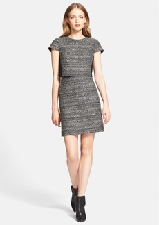 Tory Burch 'Deandra' Metallic Tweed Shift Dress