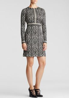 Tory Burch Deborah Silk Damask Print Dress
