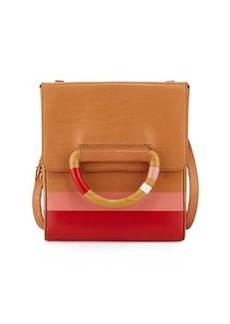 Tory Burch Dipped Leather Crossbody Bag, Natural/Red