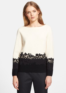 Tory Burch 'Dixie' Lace Detail Sweater