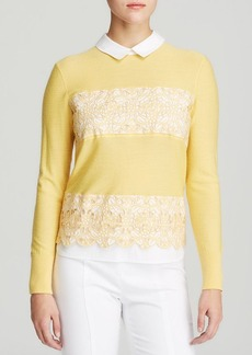 Tory Burch Edwina Mixed Media Sweater
