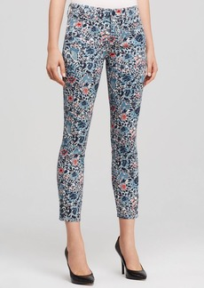 Tory Burch Emmy Cropped Floral Skinny Jeans