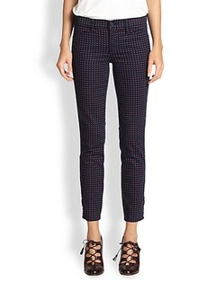 Tory Burch Emmy Skinny Ankle-Detail Jeans