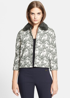 Tory Burch 'Fatima' Genuine Rabbit Collar Jacket
