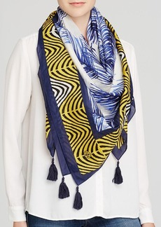 Tory Burch Feather Printed Square Scarf