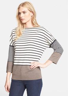 Tory Burch 'Fern' Stripe Merino Wool Sweater