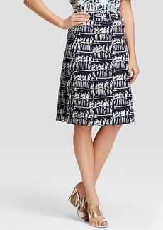 Tory Burch Figurine Print Stretch Poplin Skirt