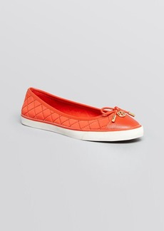 Tory Burch Flat Slip On Quilted Sneakers - Caruso