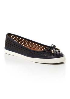 Tory Burch Flat Slip On Sneakers - Skyler Perforated