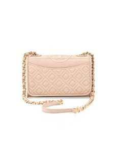 Tory Burch Fleming Quilted Mini Flap Shoulder Bag, Pink