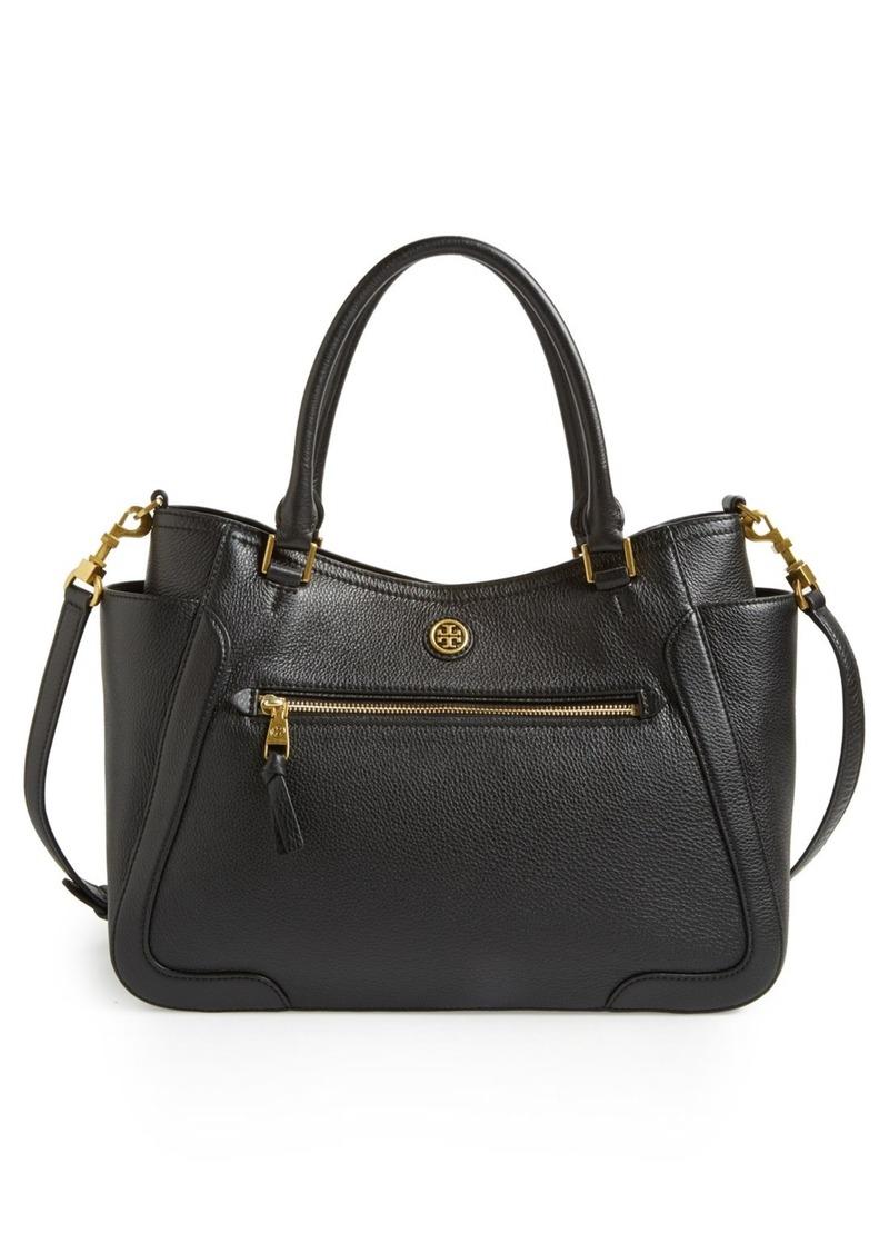 tory burch tory burch 39 frances 39 leather satchel handbags shop it to me. Black Bedroom Furniture Sets. Home Design Ideas