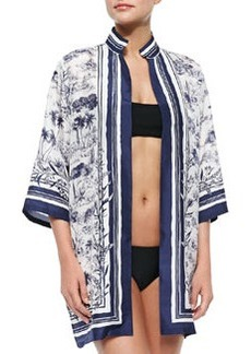 Tory Burch Frenesi Printed Open Coverup