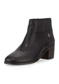 Tory Burch Fulton Leather Zip Bootie, Black