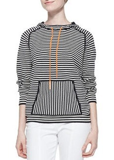 Tory Burch Geraldine Hooded Striped Sweater