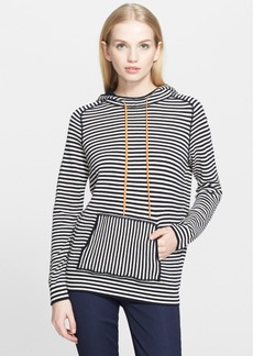 Tory Burch 'Geraldine' Stripe Hooded Pullover