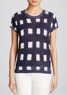 Tory Burch Grid Print Sweater