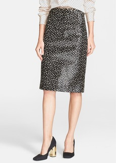 Tory Burch 'Hadley' Genuine Calf Hair Pencil Skirt