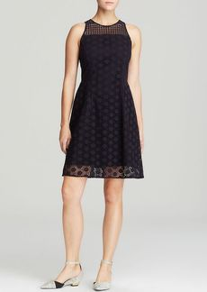Tory Burch Hallie Honeycomb Lace Dress