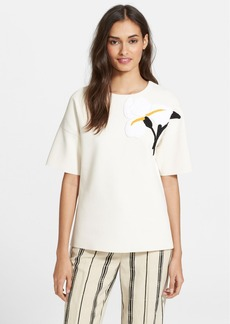 Tory Burch 'Henrietta' Appliqué Sweater