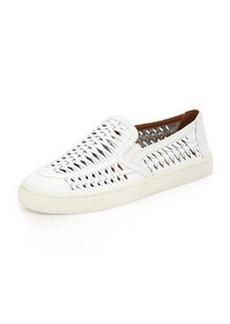 Tory Burch Huarache Slip-On Sneaker, White