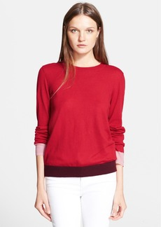Tory Burch 'Iberia' Colorblock Cashmere Sweater