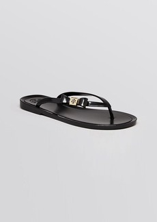 Tory Burch Jelly Flip Flops - Michaela Bow