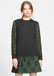 Tory Burch 'Kammy' Lace Detail Sweater