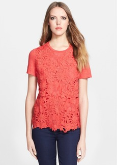 Tory Burch 'Katama' Flower Appliqué Tee
