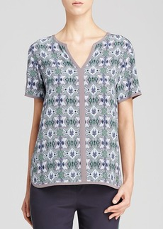 Tory Burch Katie Printed Silk Top