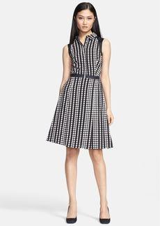 Tory Burch 'Katy' Stretch Silk Fit & Flare Dress